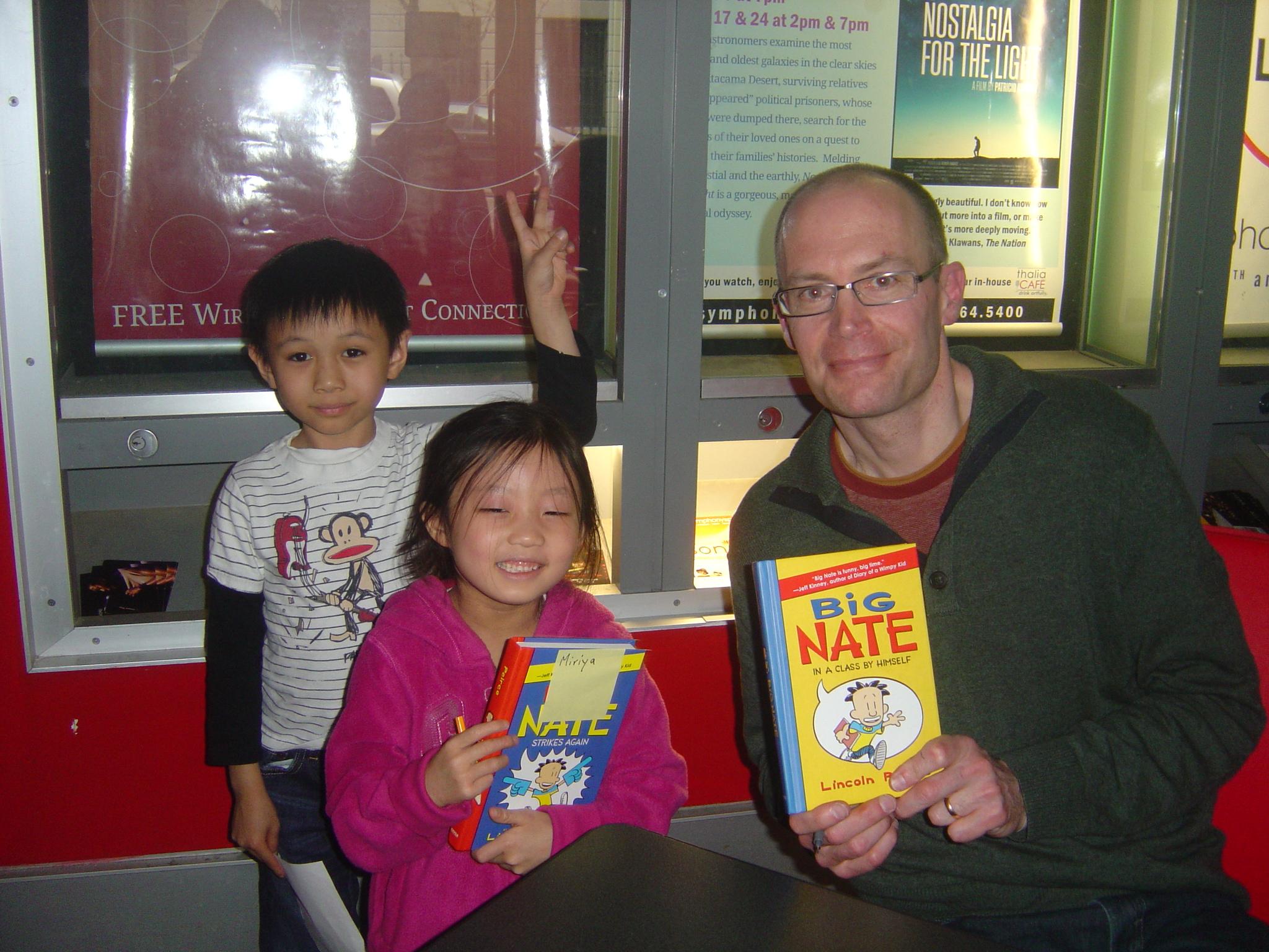 Thalia Kids Book Club Meeting Author Cartoonist Lincoln