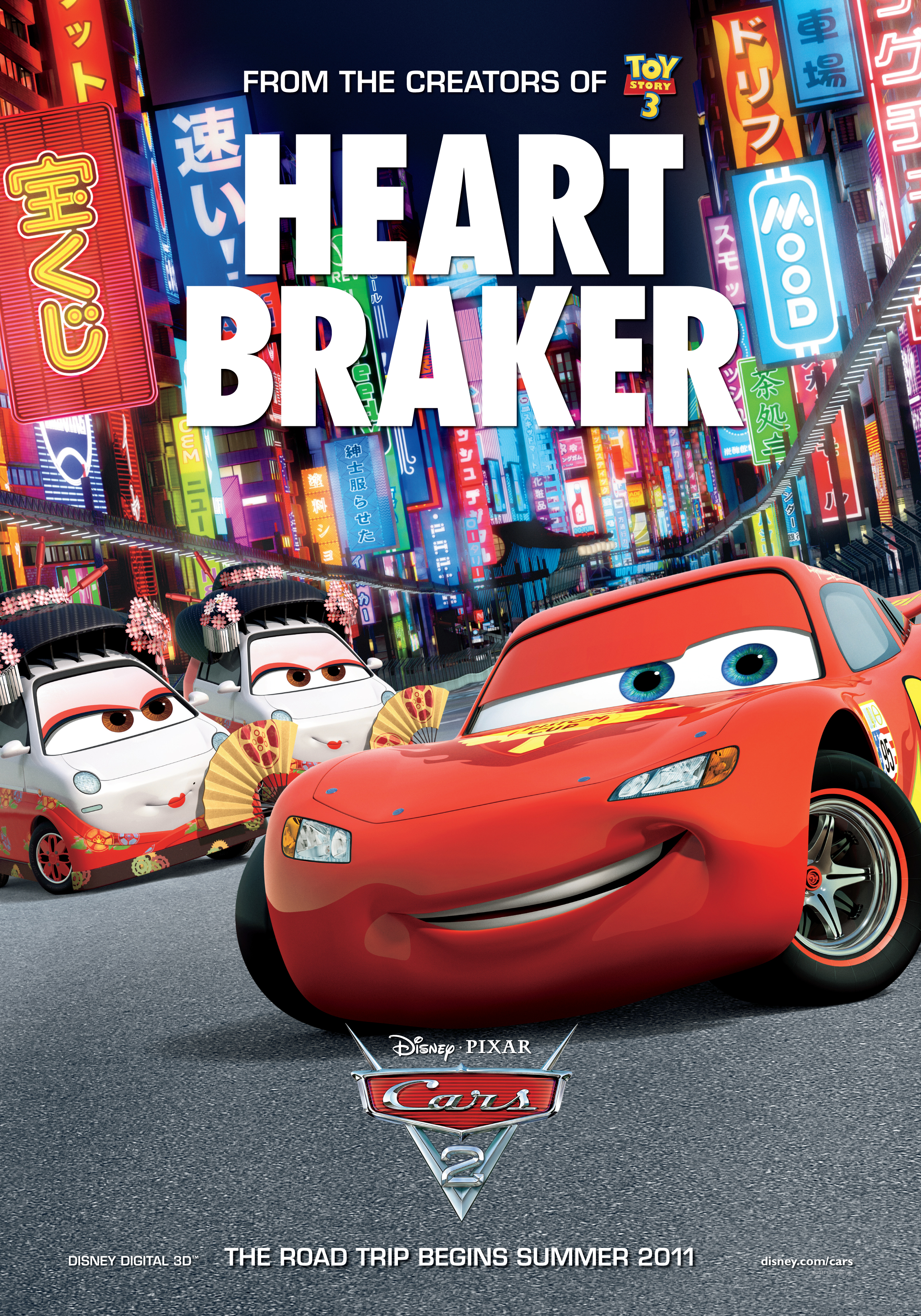 cars pixar disney poster fun movie activities 2006 posters mcqueen cars2 lightning prix grand japan craft film fisher trailer speedway